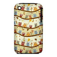 Autumn Owls Pattern Iphone 3s/3gs by Celenk