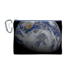 A Sky View Of Earth Canvas Cosmetic Bag (m)