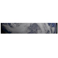 A Sky View Of Earth Large Flano Scarf