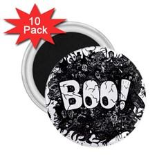 Monster Art Boo! Boo2 2 25  Magnets (10 Pack)