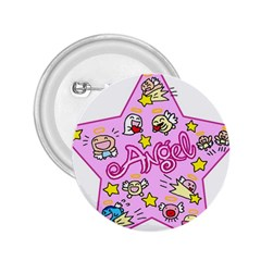 Pink Angel Star 2 25  Buttons by Celenk
