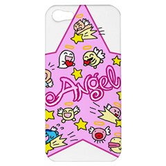 Pink Angel Star Apple Iphone 5 Hardshell Case by Celenk