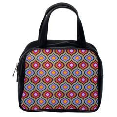 Blue Leaves Eyes Pattern Classic Handbags (one Side) by Cveti