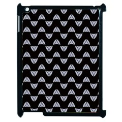 Wave Pattern Black Grey Apple Ipad 2 Case (black) by Cveti
