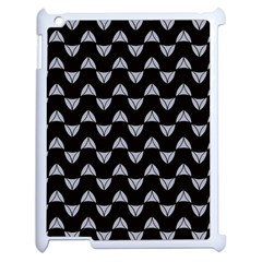 Wave Pattern Black Grey Apple Ipad 2 Case (white) by Cveti