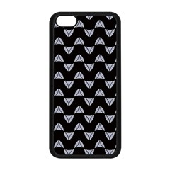 Wave Pattern Black Grey Apple Iphone 5c Seamless Case (black) by Cveti