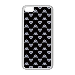 Wave Pattern Black Grey Apple Iphone 5c Seamless Case (white) by Cveti