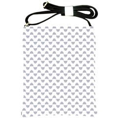 Wave Pattern White Grey Shoulder Sling Bags by Cveti