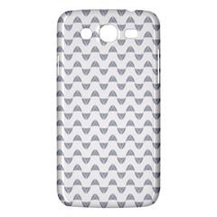 Wave Pattern White Grey Samsung Galaxy Mega 5 8 I9152 Hardshell Case  by Cveti