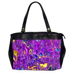 Melted Fractal 1a Office Handbags (2 Sides)  by MoreColorsinLife