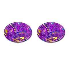 Melted Fractal 1a Cufflinks (oval) by MoreColorsinLife