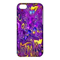 Melted Fractal 1a Apple Iphone 5c Hardshell Case by MoreColorsinLife