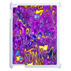 Melted Fractal 1a Apple Ipad 2 Case (white) by MoreColorsinLife