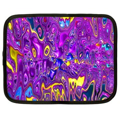 Melted Fractal 1a Netbook Case (large) by MoreColorsinLife