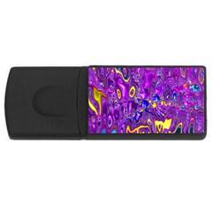 Melted Fractal 1a Rectangular Usb Flash Drive by MoreColorsinLife