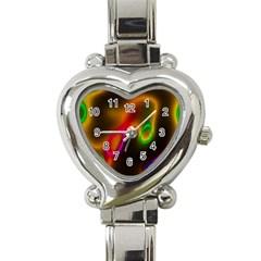 Vibrant Fantasy 4 Heart Italian Charm Watch by MoreColorsinLife