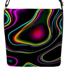 Vibrant Fantasy 5 Flap Messenger Bag (s) by MoreColorsinLife