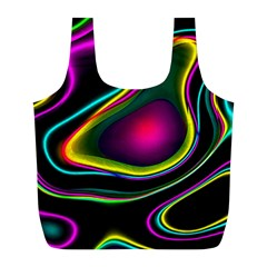 Vibrant Fantasy 5 Full Print Recycle Bags (l)  by MoreColorsinLife