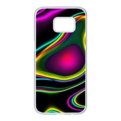 Vibrant Fantasy 5 Samsung Galaxy S7 Edge White Seamless Case by MoreColorsinLife