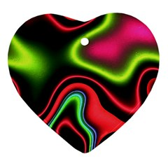 Vibrant Fantasy 1b Heart Ornament (two Sides) by MoreColorsinLife