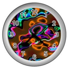Vibrant Fantasy 8 Wall Clocks (silver)  by MoreColorsinLife