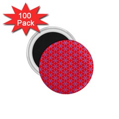 Flower Of Life Pattern Red Purle 1 75  Magnets (100 Pack)  by Cveti