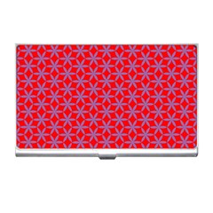 Flower Of Life Pattern Red Purle Business Card Holders by Cveti