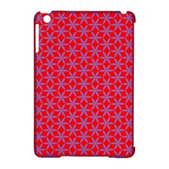 Flower Of Life Pattern Red Purle Apple Ipad Mini Hardshell Case (compatible With Smart Cover) by Cveti