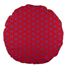 Flower Of Life Pattern Red Purle Large 18  Premium Flano Round Cushions by Cveti