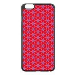 Flower Of Life Pattern Red Purle Apple Iphone 6 Plus/6s Plus Black Enamel Case by Cveti