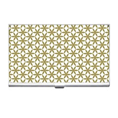 Flower Of Life Pattern Cold White Business Card Holders by Cveti