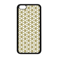 Flower Of Life Pattern Cold White Apple Iphone 5c Seamless Case (black) by Cveti