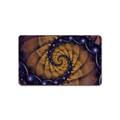 An Emperor Scorpion s 1001 Fractal Spiral Stingers Magnet (name Card) by beautifulfractals