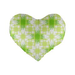 Intersecting Lines Pattern Standard 16  Premium Flano Heart Shape Cushions by dflcprints