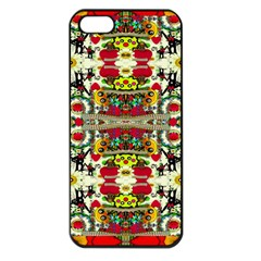 Chicken Monkeys Smile In The Floral Nature Looking Hot Apple Iphone 5 Seamless Case (black) by pepitasart