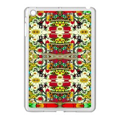 Chicken Monkeys Smile In The Floral Nature Looking Hot Apple Ipad Mini Case (white) by pepitasart
