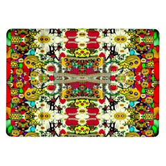 Chicken Monkeys Smile In The Floral Nature Looking Hot Samsung Galaxy Tab 10 1  P7500 Flip Case by pepitasart