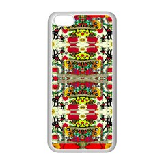 Chicken Monkeys Smile In The Floral Nature Looking Hot Apple Iphone 5c Seamless Case (white) by pepitasart