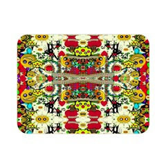 Chicken Monkeys Smile In The Floral Nature Looking Hot Double Sided Flano Blanket (mini)  by pepitasart