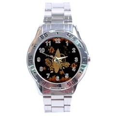Hawaiian, Tropical Design With Surfboard Stainless Steel Analogue Watch by FantasyWorld7