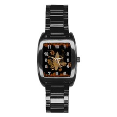 Hawaiian, Tropical Design With Surfboard Stainless Steel Barrel Watch by FantasyWorld7