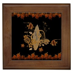 Hawaiian, Tropical Design With Surfboard Framed Tiles by FantasyWorld7
