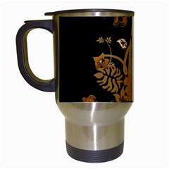 Hawaiian, Tropical Design With Surfboard Travel Mugs (white) by FantasyWorld7