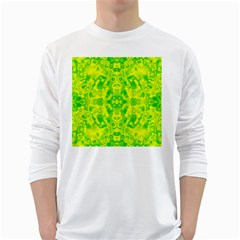 Pattern White Long Sleeve T Shirts by gasi
