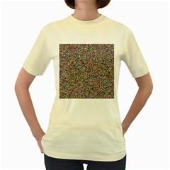 Pattern Women s Yellow T Shirt by gasi