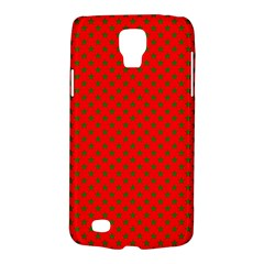 Green Christmas Stars On Festive Red Samsung Galaxy S4 Active (i9295) Hardshell Case by Beachlux