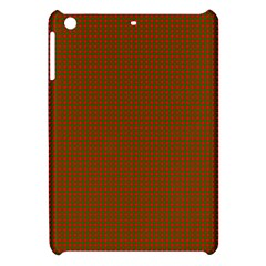 Classic Christmas Red And Green Houndstooth Check Pattern Apple Ipad Mini Hardshell Case by PodArtist