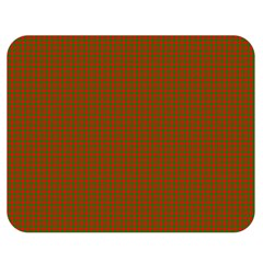 Classic Christmas Red And Green Houndstooth Check Pattern Double Sided Flano Blanket (medium)  by PodArtist