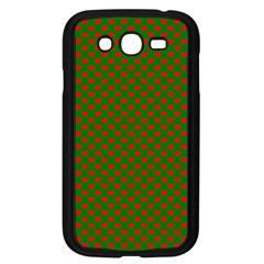 Large Red Christmas Hearts On Green Samsung Galaxy Grand Duos I9082 Case (black) by PodArtist