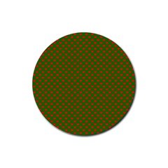 Grey And White Carbon Fiber Rubber Coaster (round)  by PodArtist